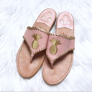 Jack Rogers Pink Pineapple Sandals